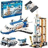 City Space Mars Exploration Space Shuttle Toy Building Kit, City Space Rocket and Launch Control Model Rocket Building Set, S