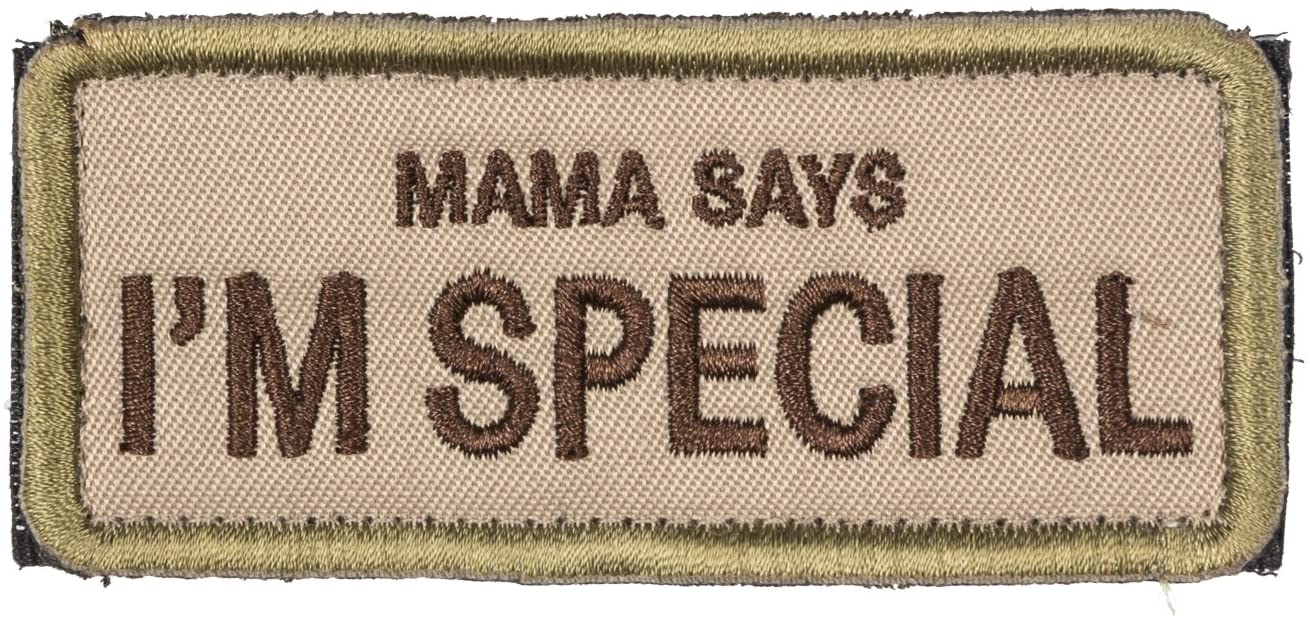 I Support Single moms Embroidered round black yellow patch with velcro