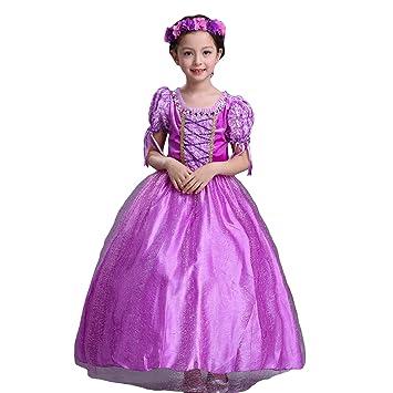 eda83fd19d261 SunnyBaby プリンセスドレス 塔の上のラプンツェル キッズドレス 髪長姫 3点セット アーム