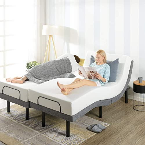 Mellow Genie 500 – Adjustable Bed Base, Unique Added Head Tilt, Wireless Remote Control, 5 Minute Tool-Free Assembly, Dual USB Charging Ports, Split King
