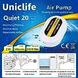 Uniclife Quiet 20 Aquarium Air Pump Dual Outlet