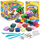 Creative Kids Air Dry Clay Modeling Crafts Kit For Children - Super Light Nontoxic - 30 Vibrant Colors & 3 Clay Tools…