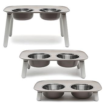 Amazon.com: Comedero elevado doble para perros, con ...