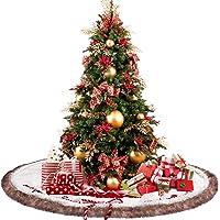 Celivesgg Christmas Tree & White Faux Fur Skirt 48