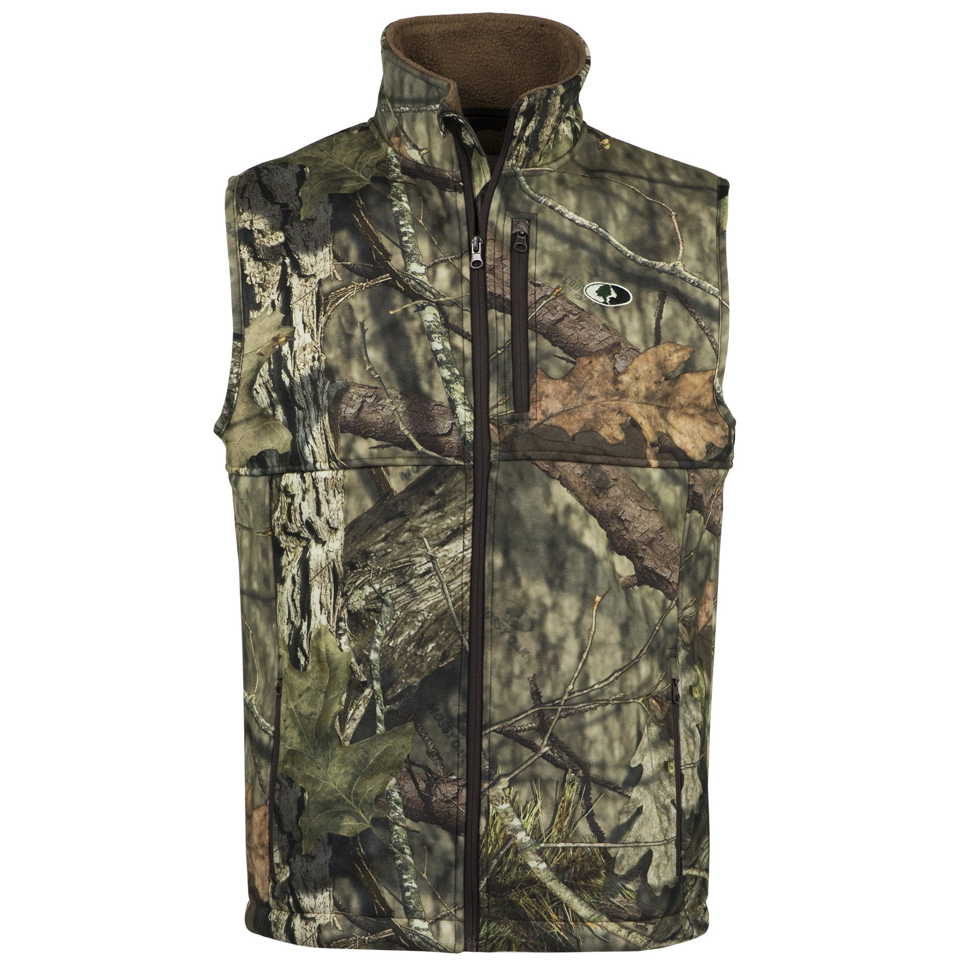 Mossy Oak Youth Camo Sherpa Fleece Lined Hunting Vest in Break-Up Country by Mossy Oak