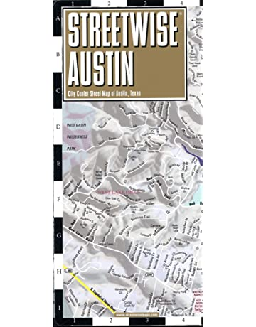 Streetwise Austin Map: Laminated City Center Map of Austin, Texas (Michelin Streetwise Maps