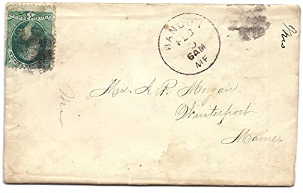 Amazon.: 1883 US Postal Cover With Letter And 3 Cent