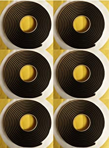 "QTY6 Butyl Tape BY 3M Window Weld Ribbon Sealer 08620 1/4""x15ft tacky adhesive"