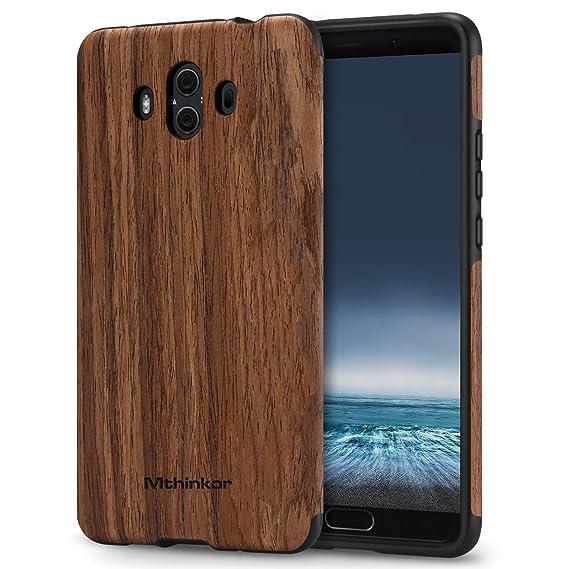 Mthinkor Funda Huawei Mate 10 Protección Silicona TPU Diseño de Madera para Huawei Mate 10 (Palo de Rosa): Amazon.es: Electrónica