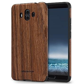Mthinkor Funda Huawei Mate 10 Protección Silicona TPU Diseño de Madera para Huawei Mate 10 (Palo de Rosa)