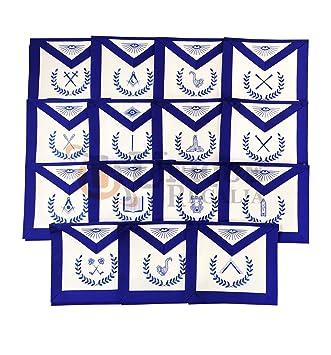 Amazon com: Masonic Blue Lodge Officers 15 Machine Embroided