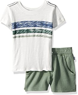 2eb795add13d8 Amazon.com: Splendid Baby Boys Henley Set with Shorts, by Water, 3/6 ...