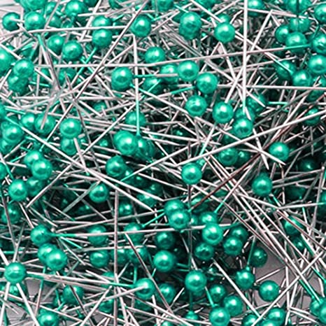 Multi-color Wetco 800 Pcs 3.5 cm Round Pearl Head Pins Dressmaking Pins Corsage Florists Weddings Sewing Pin