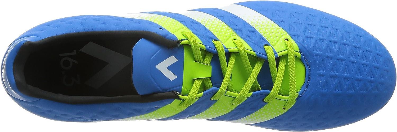 adidas Ace 16.3 FG/AG, Scarpe da Calcio Uomo Blu Shock Blue Semi Solar Slime Ftwr White
