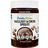 Diabetic Kitchen Sugar Free Hazelnut Chocolate Spread - Keto Friendly 1 Net Carb - No Erythritol or Sugar Alcohols - 9g…