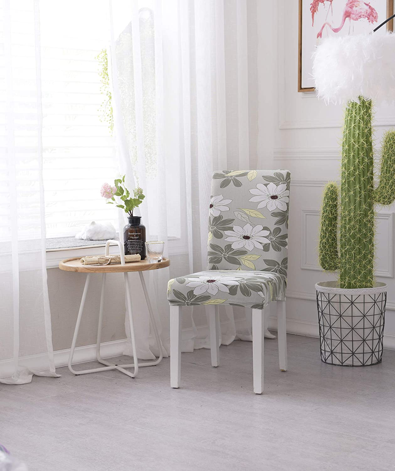 Dining Chair Cover Seat Protector Super Fit Slipcover Stretch ...