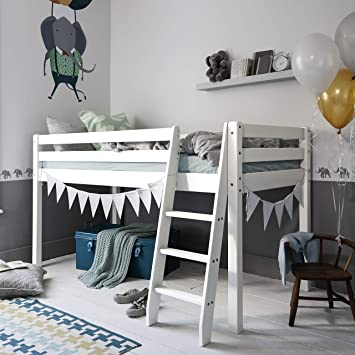 Cabin Bed Mid Sleeper Bunk White 57nt Wg Noa Nani Amazon Co Uk