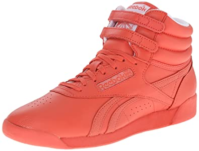 Reebok Women's Freestyle Hi Spirit Classic Shoe, Energy/White, ...