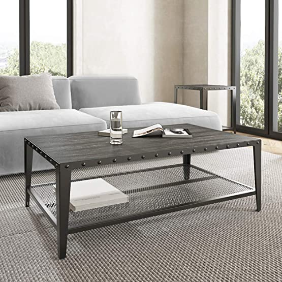 Allewie 44 Rustic Coffee Table - a good cheap modern coffee table