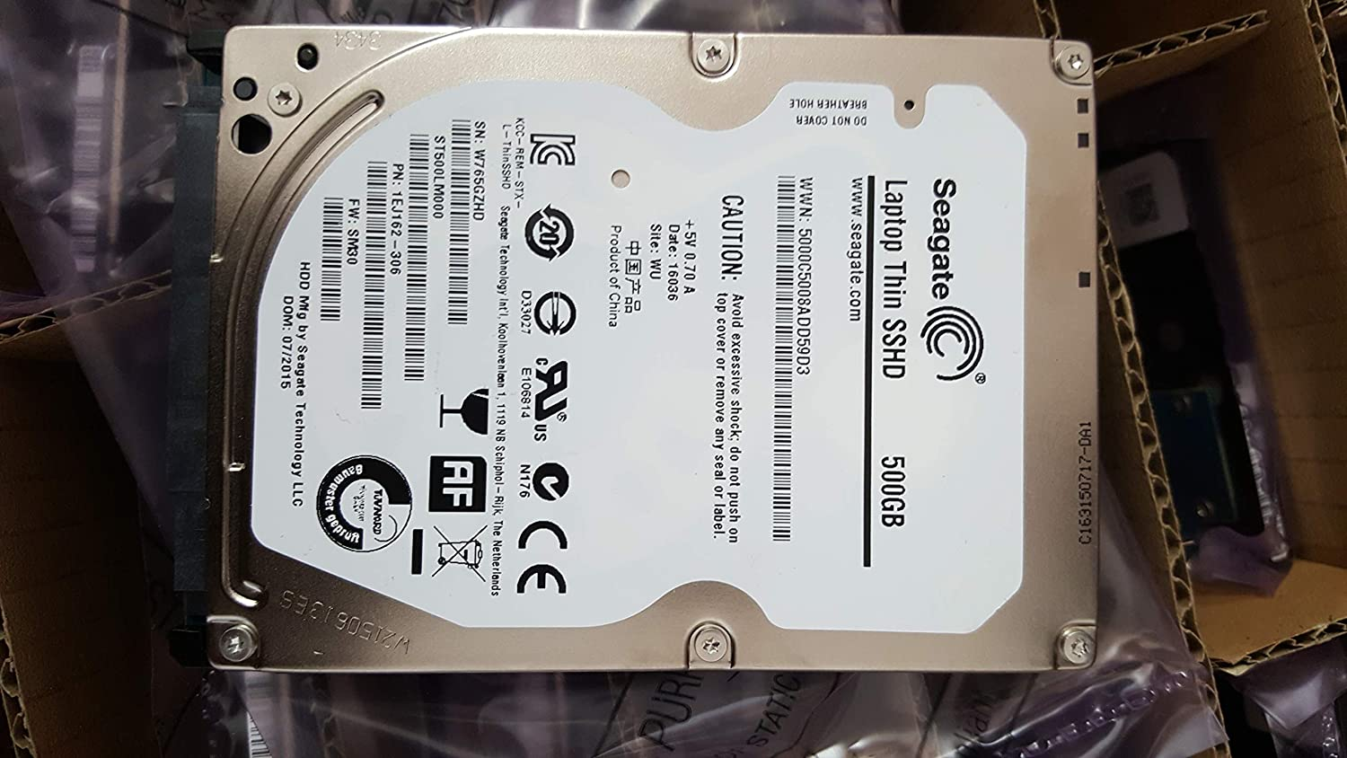 Seagate 500GB Solid State Hybrid Drive SSHD, 500GB HDD and 8GB SSD ...