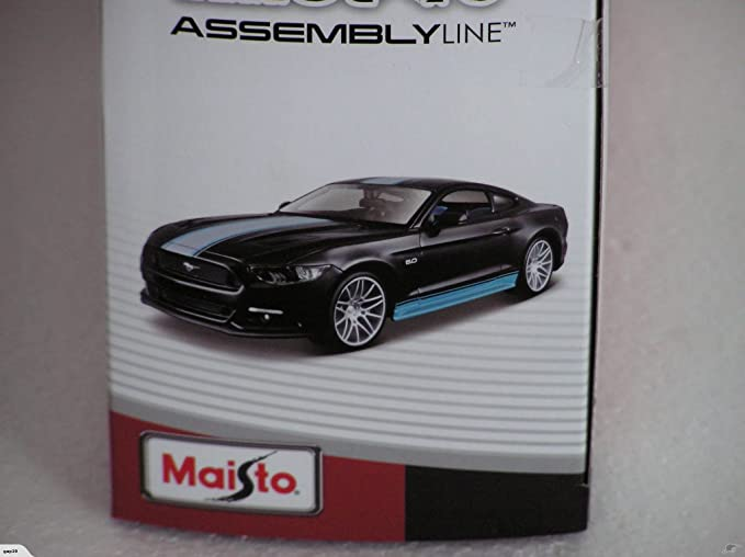 Maisto All Stars Assembly Line 2015 Ford Mustang Diecast Model Kit Vehicle (1:24 Scale)