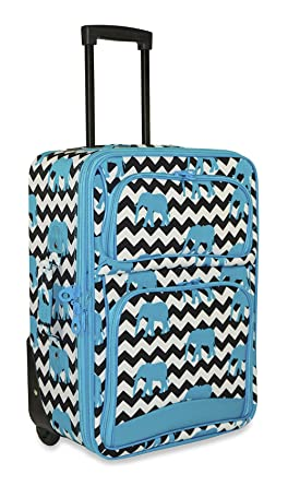 Amazon.com | Ever Moda Designer Print 20-inch Expandable Carry On ...
