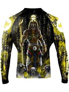 Raven Fightwear Men/'s The Gods of Egypt Osiris Rash Guard MMA BJJ Black
