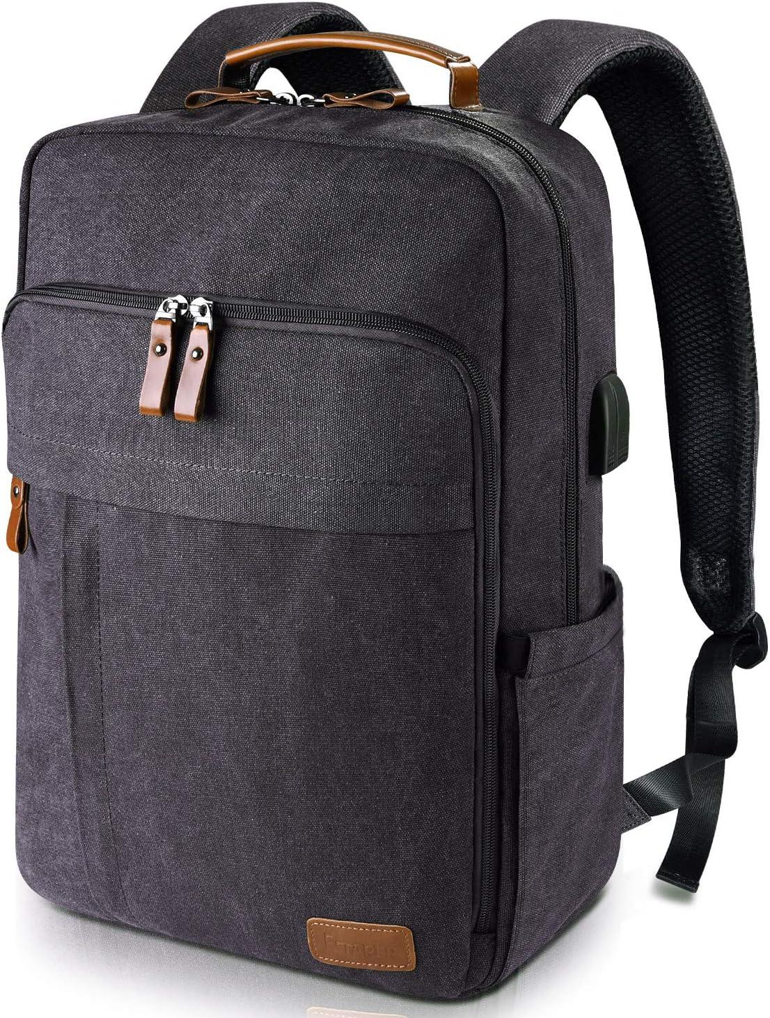 Estarer Laptop Backpack w/USB Charging Port for Men Women
