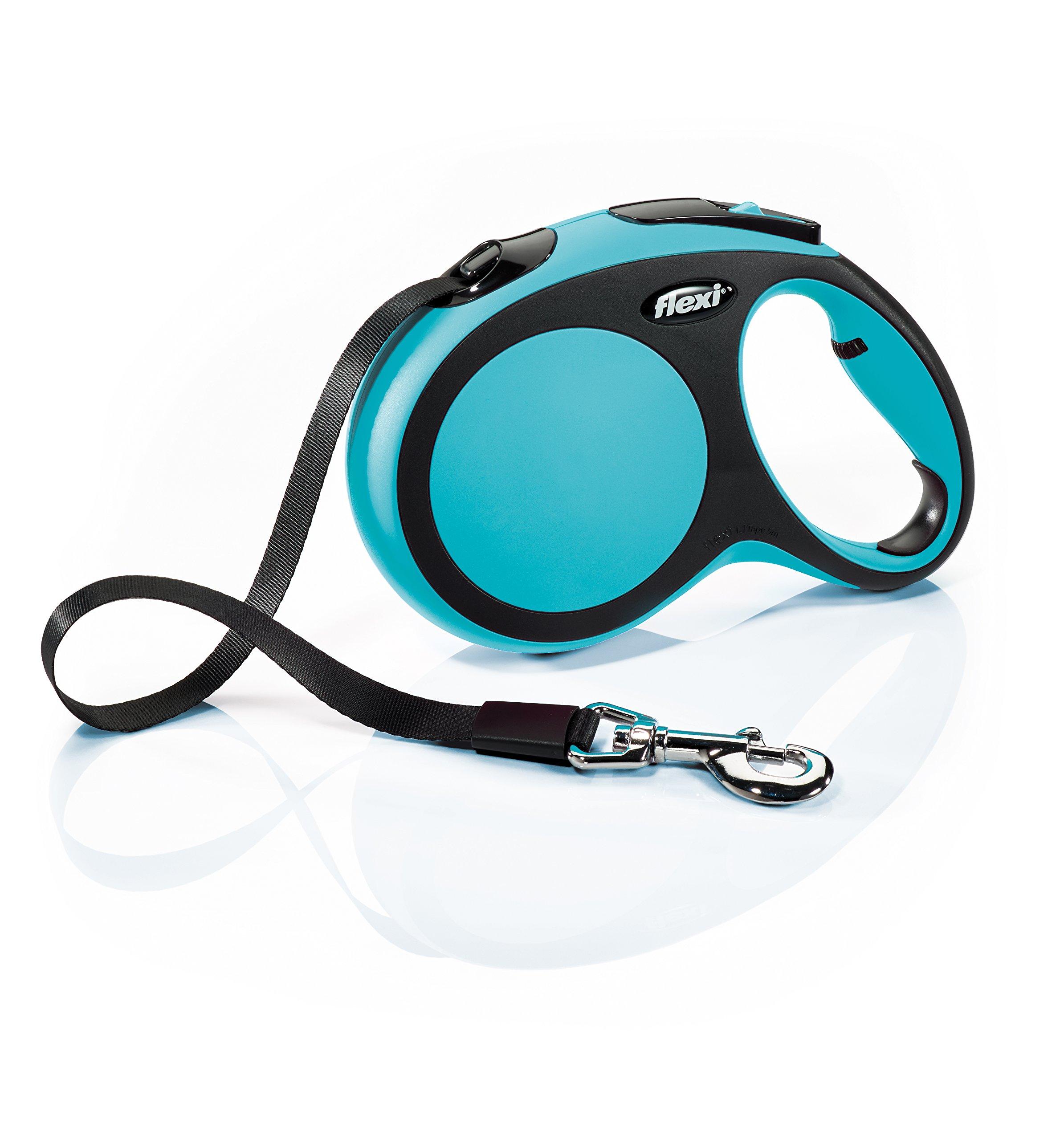 Flexi New Comfort Retractable Dog Leash (Tape), 16 ft, Large, Blue by Flexi