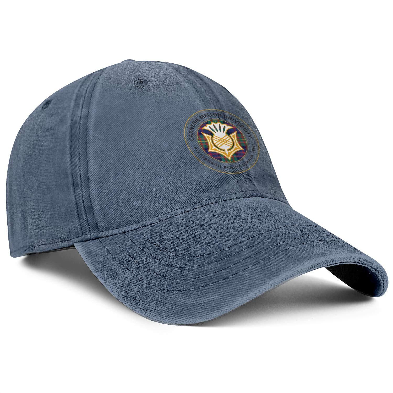 ZHENGJC Womens Washed Baseball Hat Carnegie-Mellon-University-Emblem-Basic Adjustable Cycling Cap
