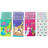 Spiral Notepad – 24-Pack Top Spiral Notebooks, Bulk Mini Spiral Notepads for Party Favors, Note Taking, to-do Lists, Lined Paper, 4 Cute Llama Designs, 3 x 5 Inches