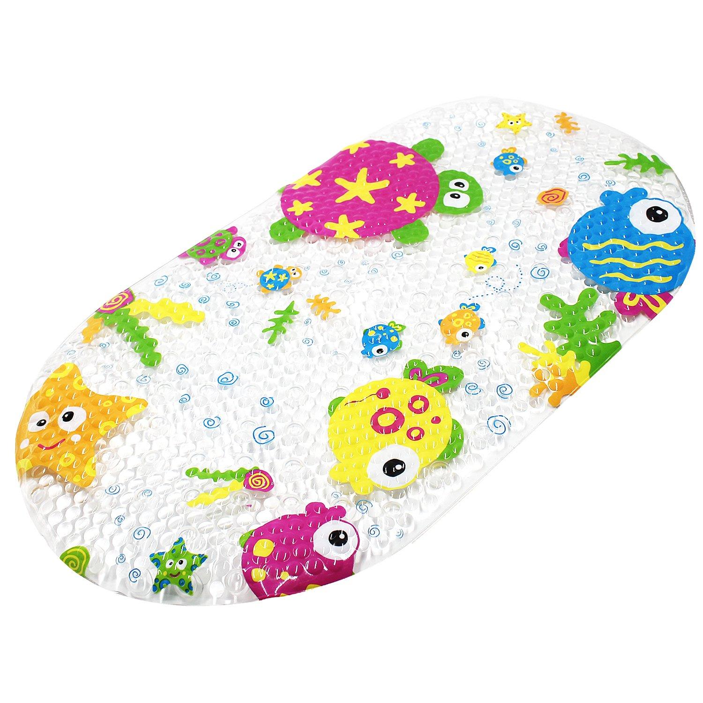 Tappetino antiscivolo, tappetino Topsky tappetino vasca doccia con ventose Bright Mat fumetto stampato per bambini, 39x 69cm (colorato Ocean)