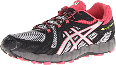 ASICS Zapato de trail running para mujer Gel-Fuji Trainer 3, aluminio / Lightning / Rouge, 8 M US: Amazon.es: Zapatos y complementos