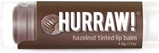 product image for Hurraw! Hazelnut Tinted Lip Balm, 4.8g/.17oz: Organic, Certified Vegan, Cruelty and Gluten Free. Non-GMO, 100% Natural Ingredients. Bee, Shea, Soy and Palm Free. Made in USA