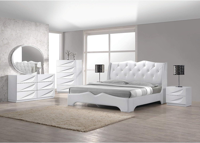Best Master Furniture 10 Pcs Modern Lacquer Bedroom Set, King
