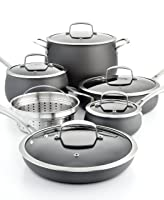 Belgique Hard Anodized 11 Piece Cookware Set Black