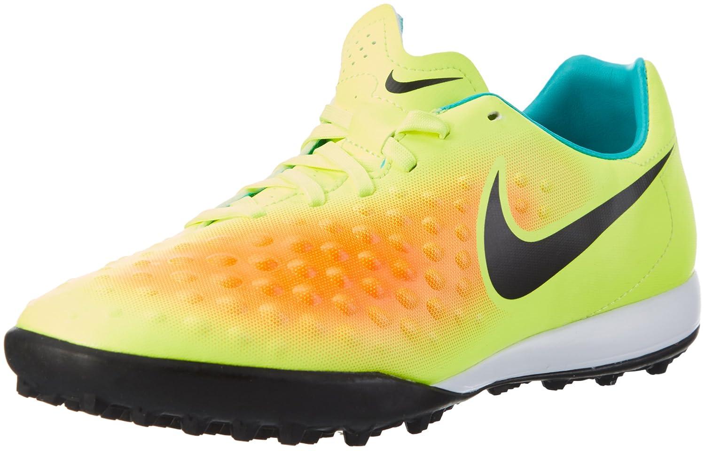Nike Magistax Onda II TF, Botas de Fútbol para Hombre 44.5 EU|Amarillo (Volt / Black-total Orange-clear Jade)