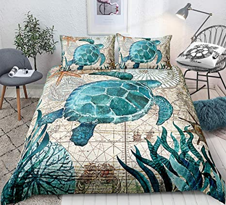 Marine Stars Single Quilted Bedspread