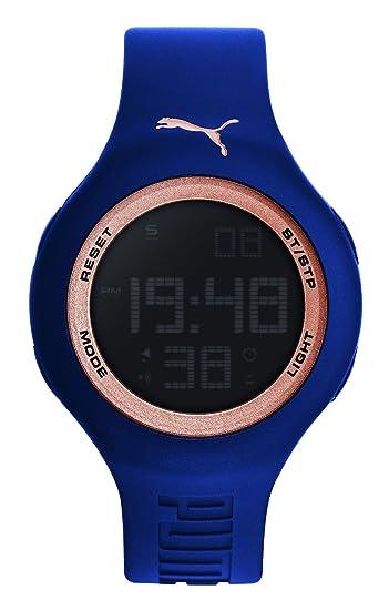 Reloj Cuarzo PUMA Time para Hombre con Azul Digital Y Azul Silicona PU910801045