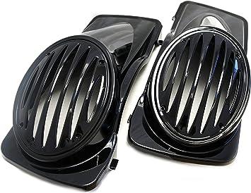 Mutazu Glossy Black ABS Dual 6.5 Speaker Lids for Harley Touring 1994-2013