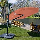 Coolaroo Cantilever Umbrella Round 12' Terracotta