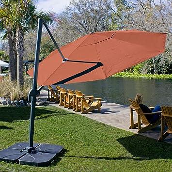 Coolaroo Cantilever Umbrella Round 12u0027 Terracotta