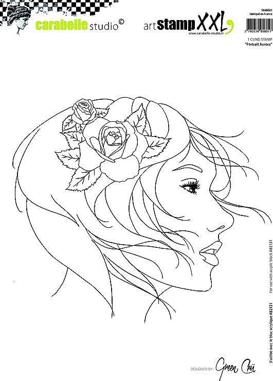Portrait H/éra Caoutchouc Carabelle Studio SA40003 Tampon XXL 19 x 27,5 x 0,5 cm Blanc//Transparent