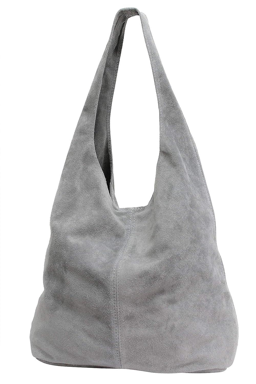 AMBRA Moda Damen Ledertasche Shopper Wildleder Handtasche Schultertasche Beuteltasche WL818 WL818 WL818 B0796DJV1T Schultertaschen Vorzugspreis c98517
