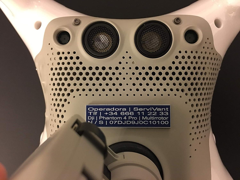 SERVIVANT ○ Kit de 3 Placas Identificativas para Drones ○ Placas ...