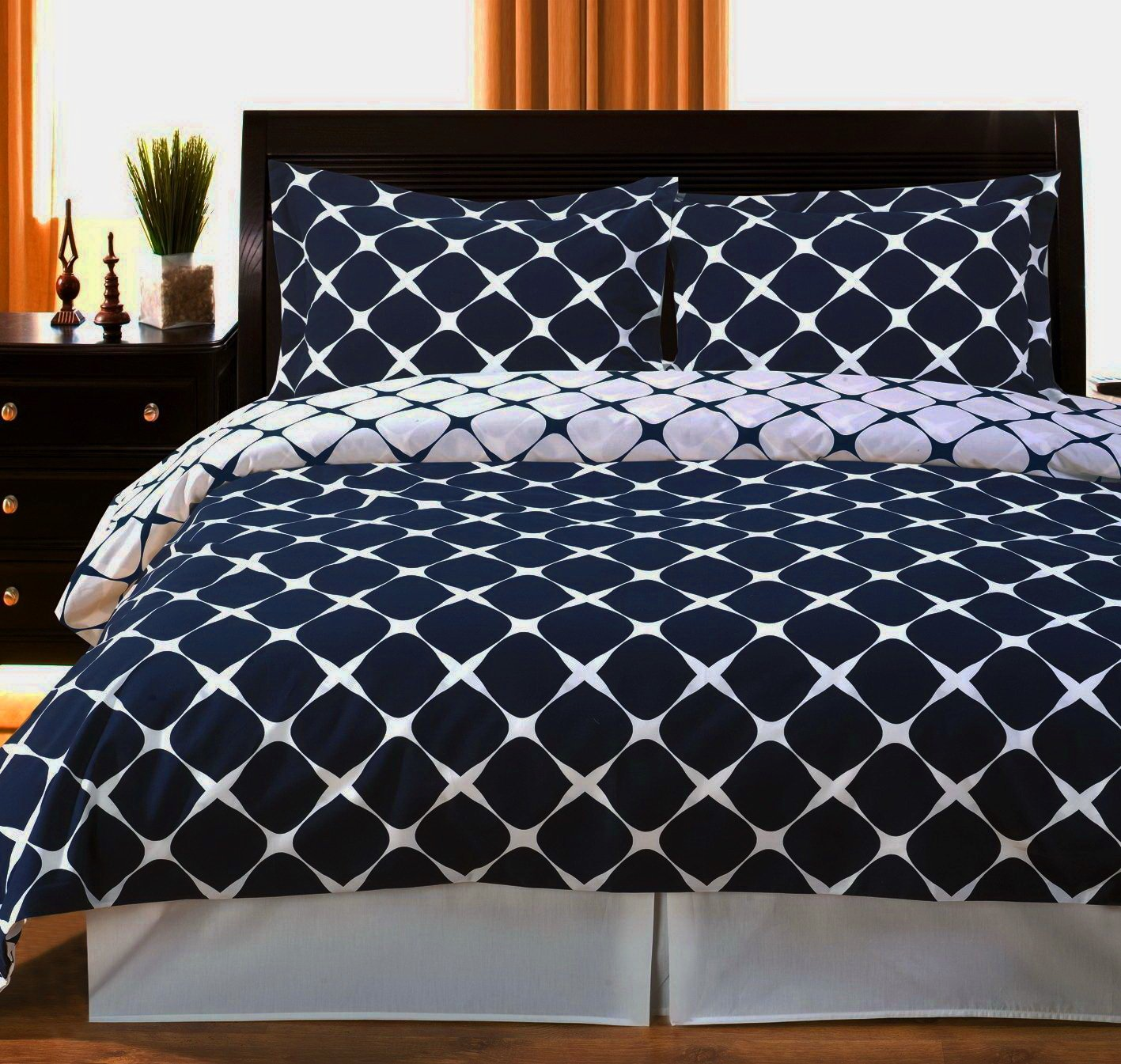 Amazon Com Duvet Cover Set Double Full Queen Size 100 Egyptian
