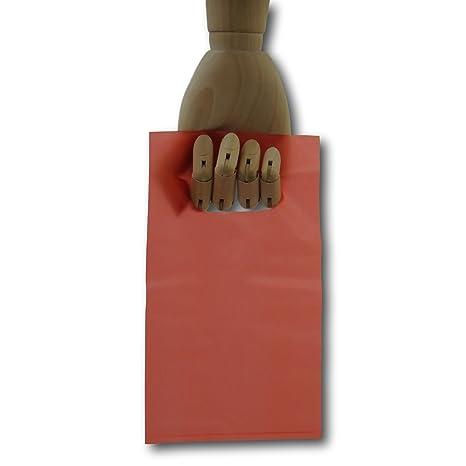100 bolsas de plástico con asa para tienda de regalo de ...