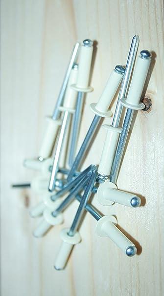 Remache aluminio blanco minicaja 50pcs 4x10 B Bralo S1010BL4010