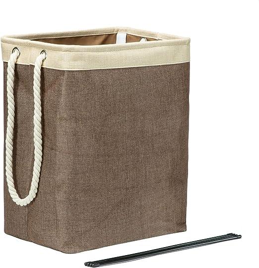 Cesto Ropa Sucia Plegable, Lino de algodón, Mango de Cuerda de algodón, para una Variedad de Ocasiones: Amazon.es: Hogar