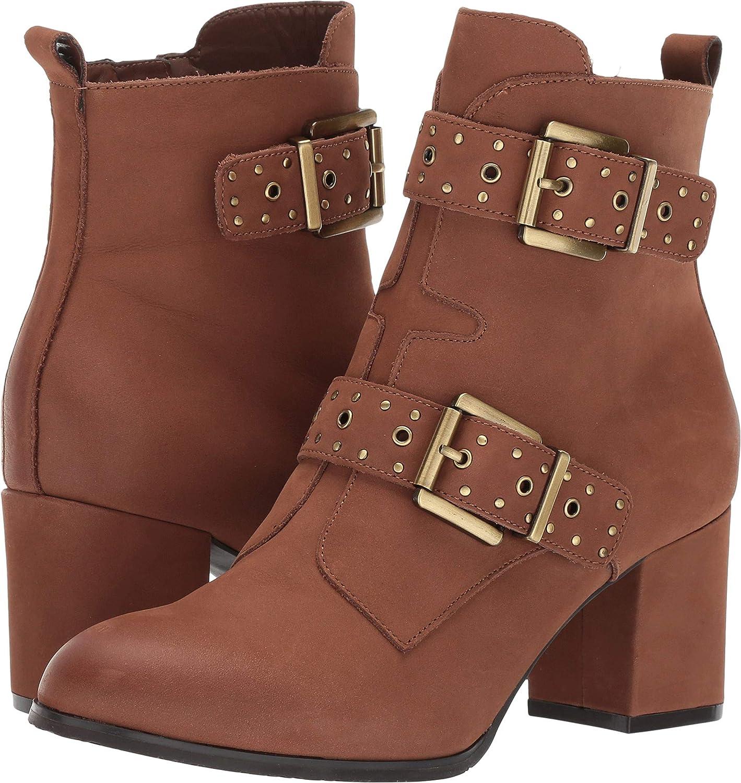 Cognac Nubuck Blondo Womens Daphne Ankle Boot
